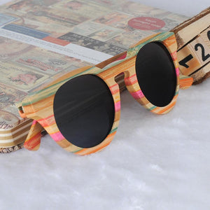 Sunglasses - BOBO BIRD Unique Luxury Bamboo Round Sunglasses