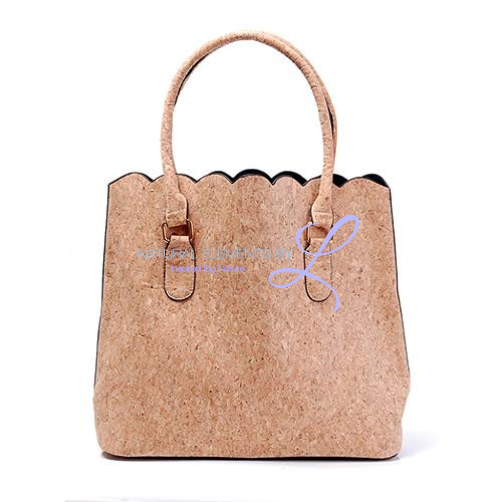 Vegan Leather Natural Cork Patchwork Tote Bag * Can Be Personalized Full Handbags