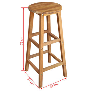 Natural Elements Bar Stools 2 pcs Acacia Wood