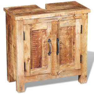 Natural Elements Bathroom Vanity Cabinet with Mirror Solid Mango Wood