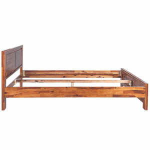 Natural Elements Bed Frame Solid Acacia Wood Brown Queen Size