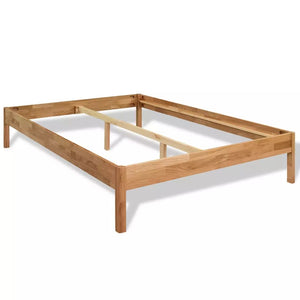 "Natural Elements Bed Frame Solid Oak 70.9""x78.7"""