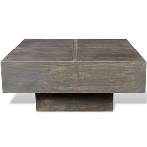 Natural Elements Minimalist Square Mango Wood Coffee Table