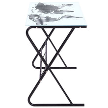 Natural Elements Glass Desk with World Map Pattern