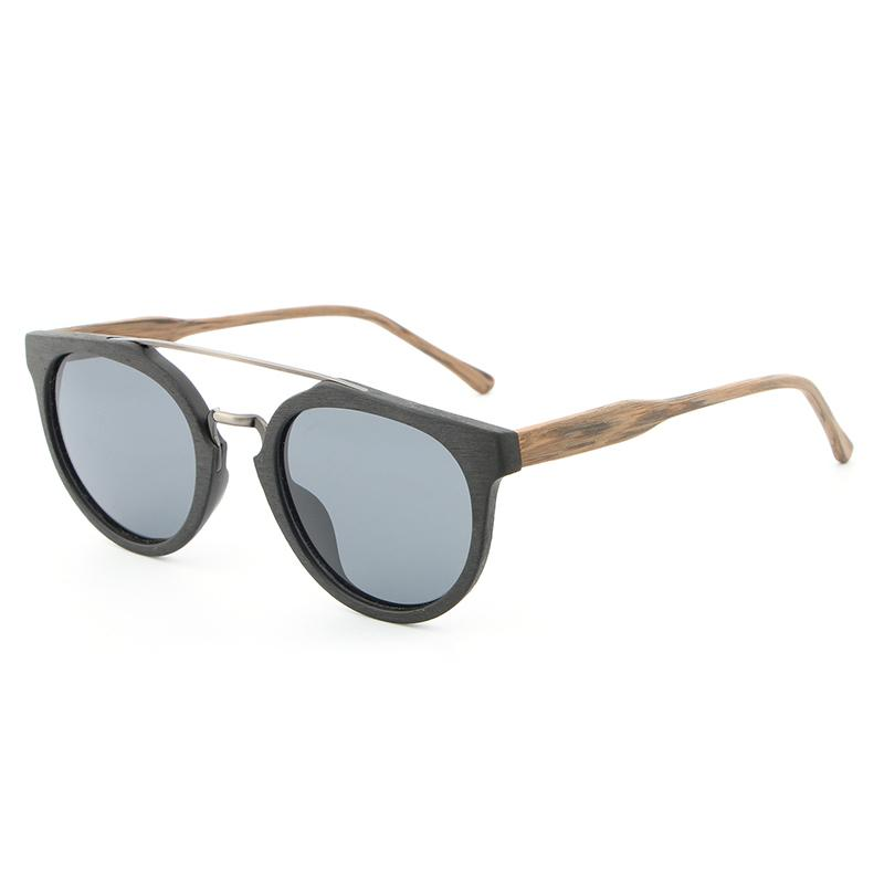 Vintage Acetate Wood Sunglasses Men Women High Quality Polarized Lens Classic
