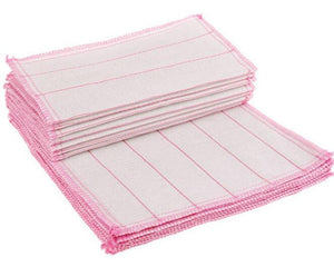 White Non-Stained Bamboo Fiber Dishcloths 10 Pc Set