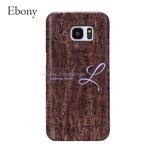 Wood Phone Cases For Samsung Galaxy Models Ebony / S6 Smartphone