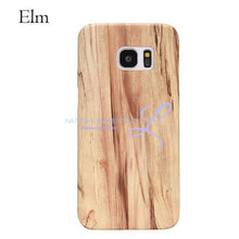 Wood Phone Cases For Samsung Galaxy Models Elm / S6 Smartphone