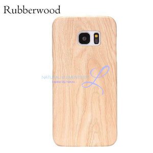 Wood Phone Cases For Samsung Galaxy Models Rubberwood / S6 Smartphone