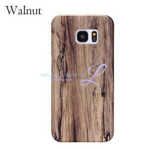 Wood Phone Cases For Samsung Galaxy Models Walnut / S6 Smartphone