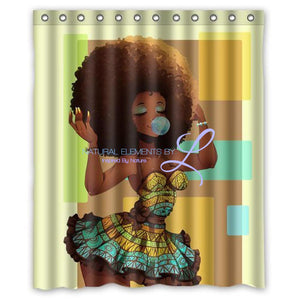 You Go Girl Modern Custom Fabric Waterproof Bathroom Shower Curtain