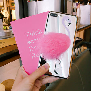 Coque flamant rose en 3D Iphones