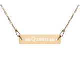 "Engraved ""Queen"" Chain Necklace - Just JKing"