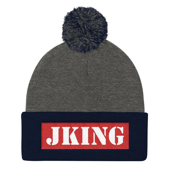 JKing Bar Pom Pom Beanie - Just JKing