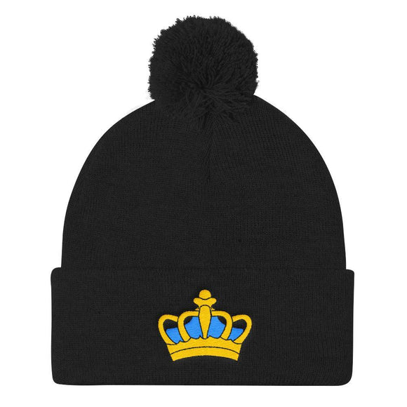 JKing Crown Pom Pom Beanie - Just JKing