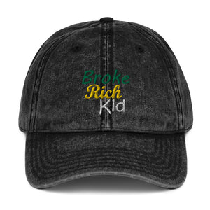 Broke Rich Kid Vintage Cap - Just JKing