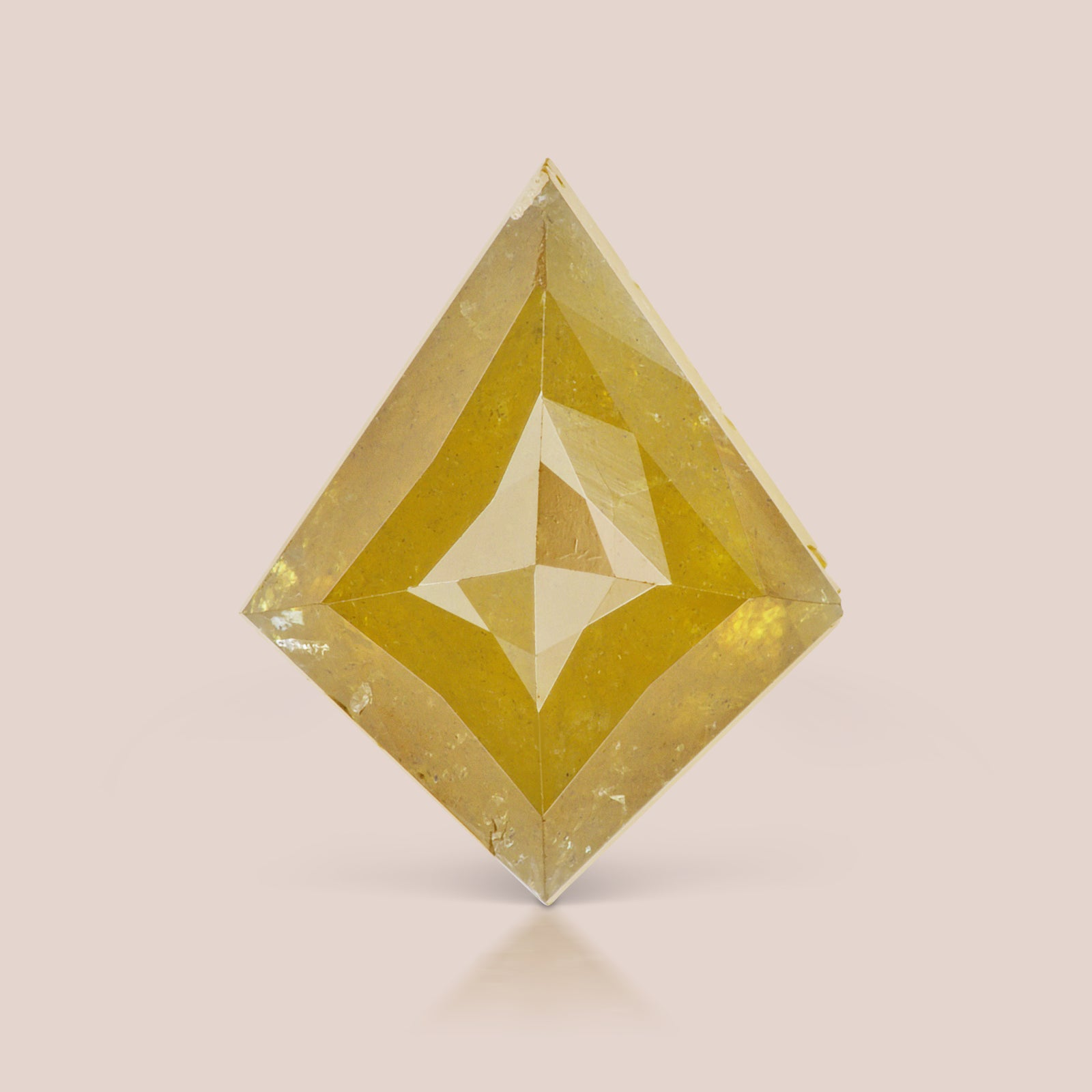 Natural Orange Kite Rosecut Diamond