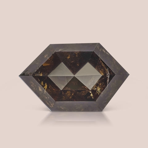 Natural Brown Long Hexagon Rosecut Diamond