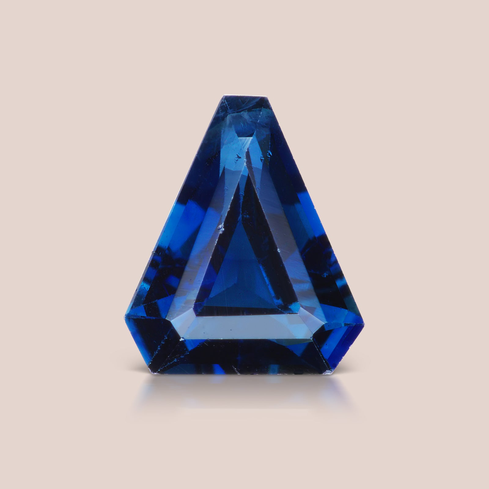 Blue Improvised / Antique Triangle Sapphire