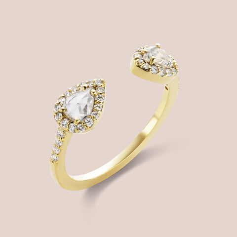 """Kirchner"" Pear Rosecut Diamond Ring"