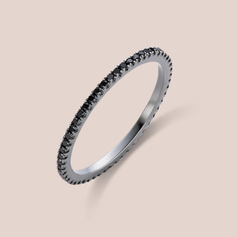"""Rothko"" Black Diamond Eternity Band 1.0mm Width"