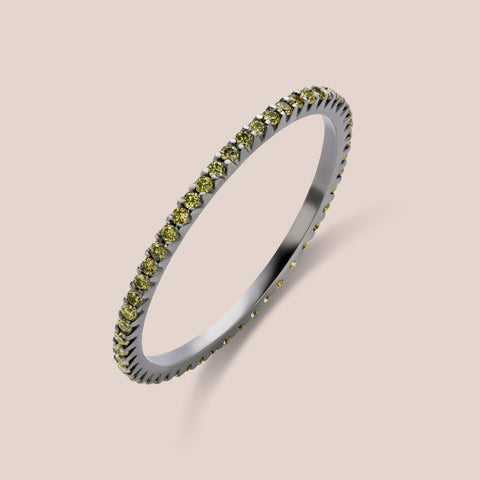 """Rothko"" Light Green Diamond Eternity Band 1.0mm Width"