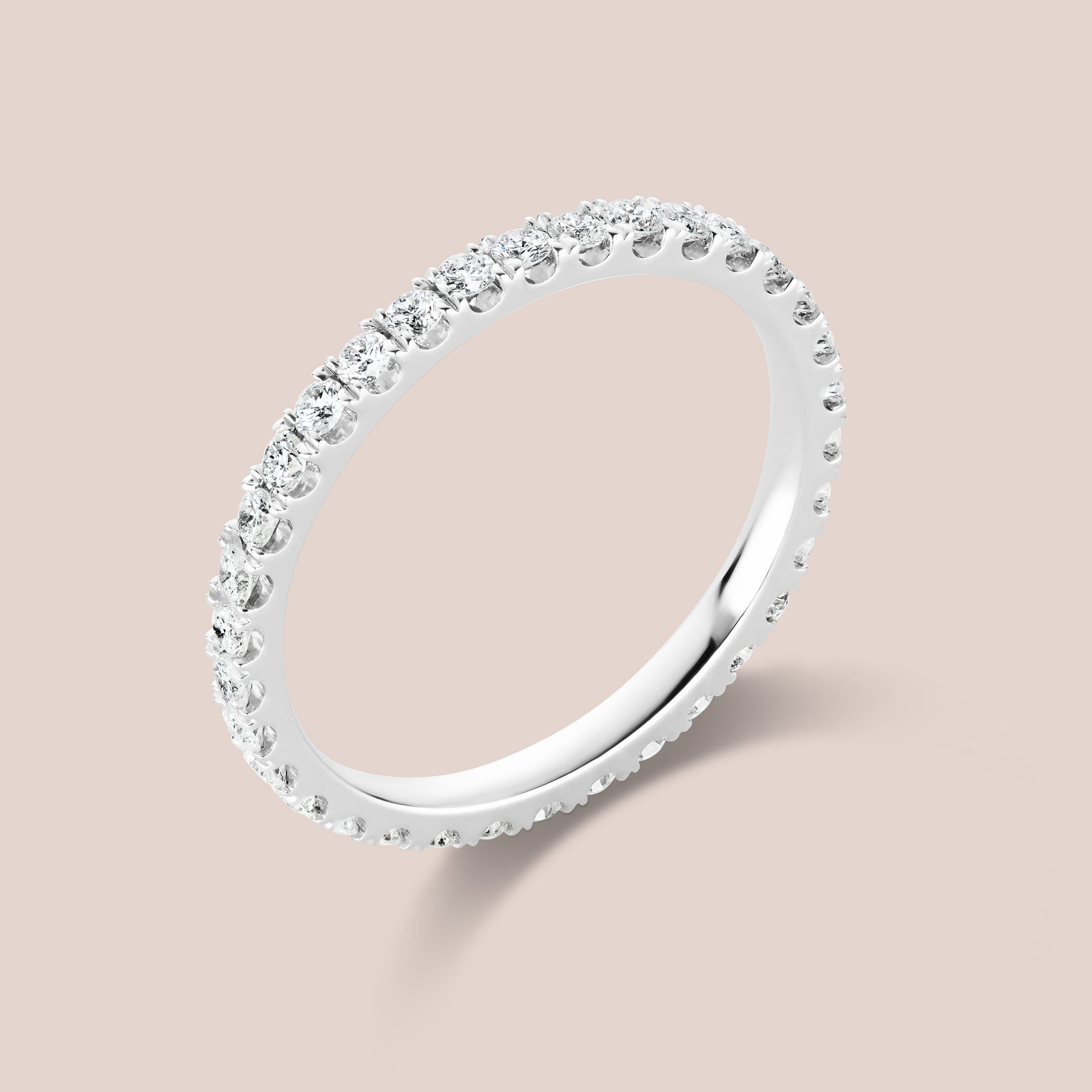 """Rothko"" White Diamond Eternity Band 1.8mm Width"