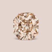 Natural Fancy Peach Octagon Cut Diamond