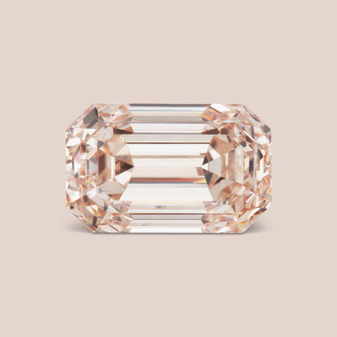 Natural Fancy Pink Emerald Cut Diamond