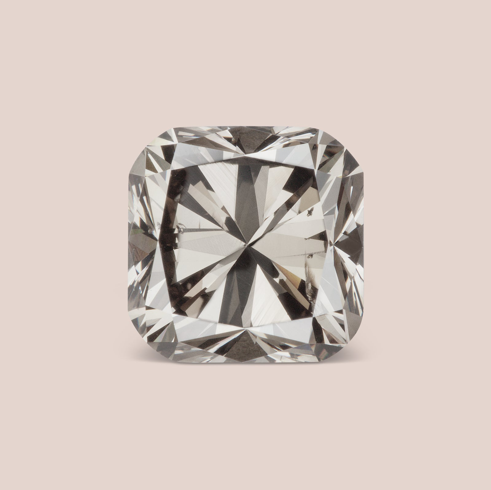 Natural Grey-Champagne Octagon Cut Diamond