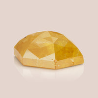 Natural Orange Hexagonal Rosecut Diamond