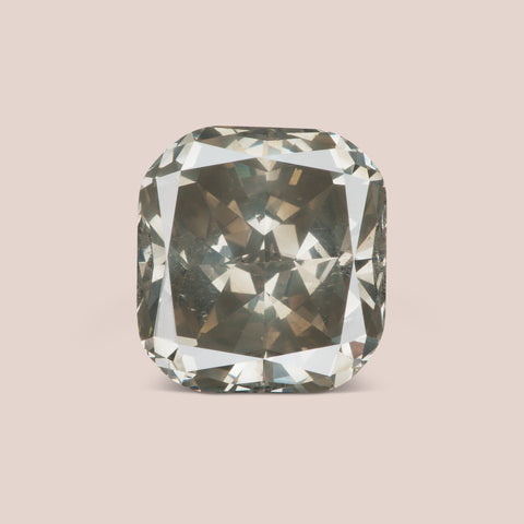 Natural Grey Cushion Cut Diamond