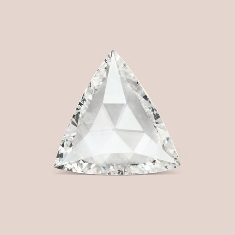 White Trillion Rose Cut Diamond