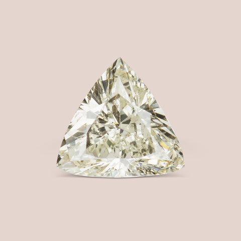 Light Yellow Trillion Cut Diamond