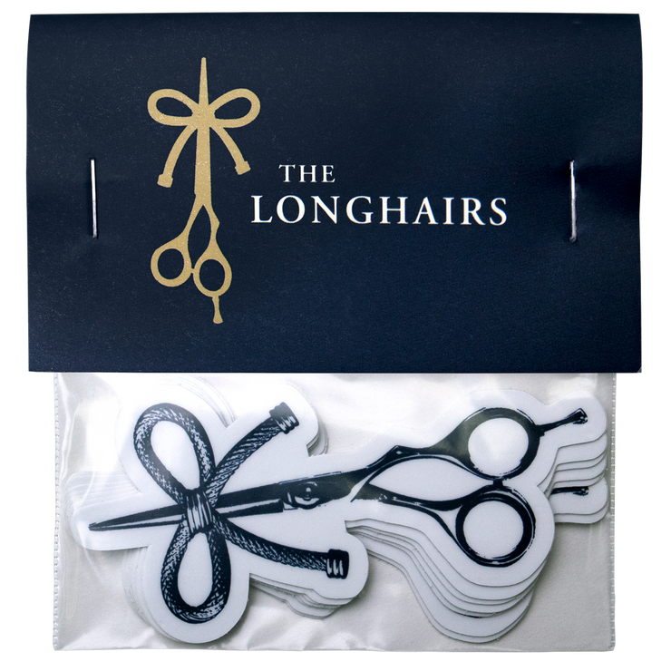 The Longhairs Sticker 6-Pack