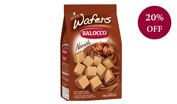 Nocciola (Hazelnut) Wafers 250G Biscuits