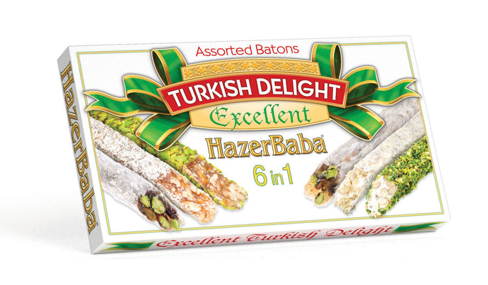 Assorted Batons Double Roasted Turkish Delight 350g
