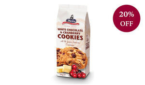 White Chocolate & Cranberry Cookies 200G Biscuits