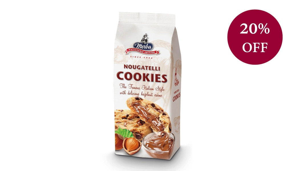 Nougatelli Hazelnut Cookies 200G Biscuits