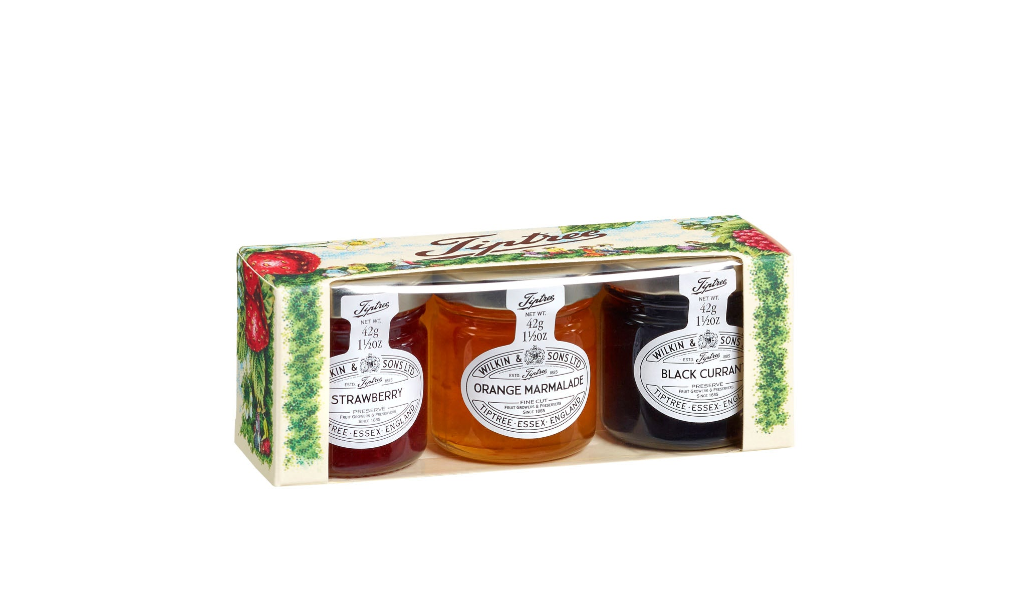 Strawberry, Orange Marmalade & Blackcurrant Conserve Gift Pack 3x42g