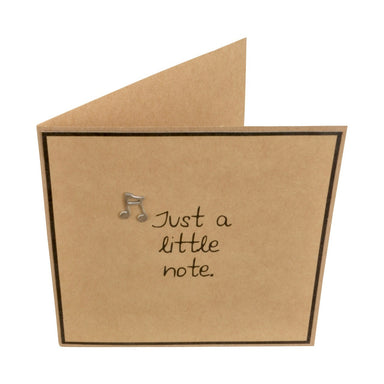 Just a Little Note Embellished Greeting Card