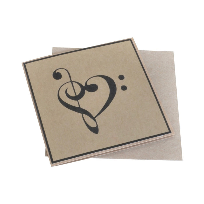 Clef Heart Greeting Card