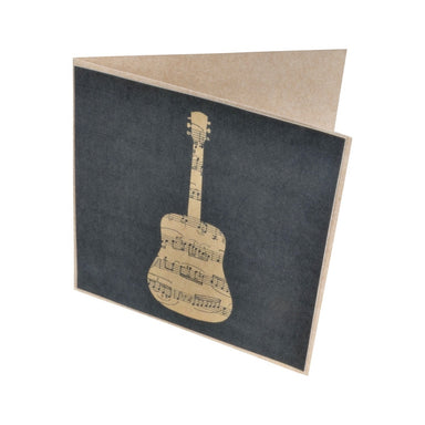 Sheet Music Guitar Greeting Card