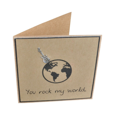 You Rock my World Embellished Greeting Card
