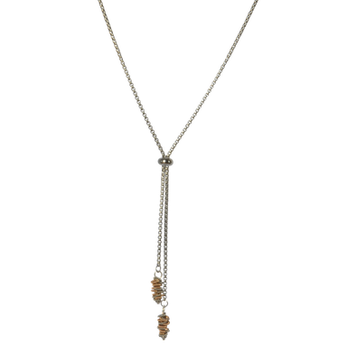 Aria Staccato Necklace - Two-Tone