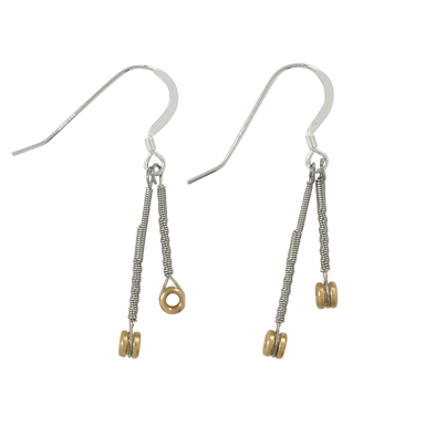 Ball End Drop Earrings