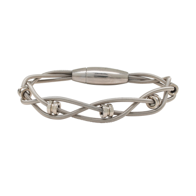 Bass Bracelet - Bass Ball Ends - Silver