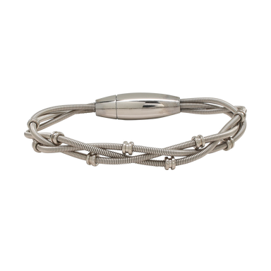 Bass Bracelet - Electric Ball Ends - Silver