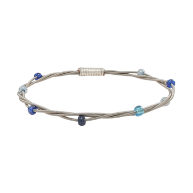Beaded Bangle - Blue