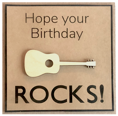 Greeting Card - Hope Your Birthday Rocks